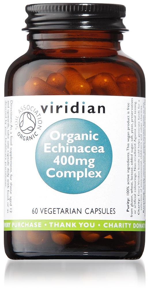 Organic Echinacea Root 400mg Complex Veg