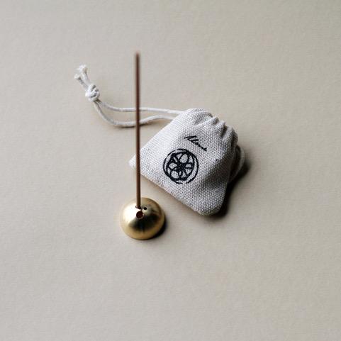 Dome Incense Holder: Gold brass