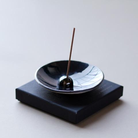 Incense stick Burner: Metallic Stoneware